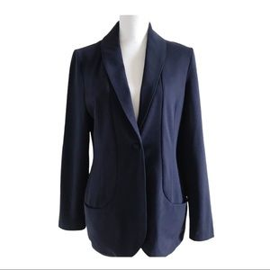 Charlie Paige One Button Blazer Jacket Navy Blue S